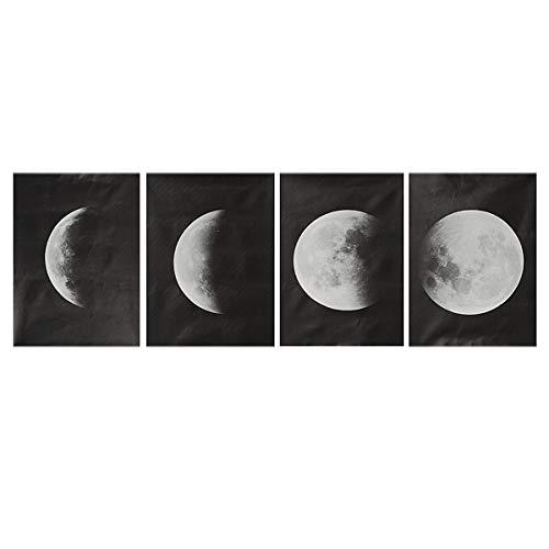 RanDal 4 Teile/satz Mond Wanddekor Poster Kunstdruck Canva Wandbild Hauptdekorationen