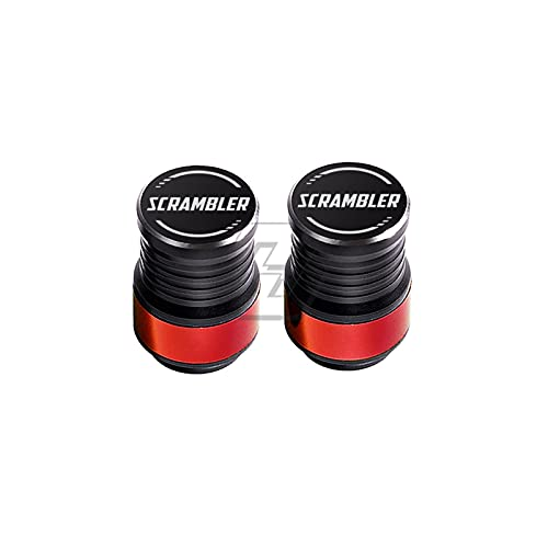 SHUAIFEI Válvula de neumático de la Motocicleta Puerto de Aire Puerto de vástago Tapa tapón Accesorios de aleación de Aluminio Compatible with Ducati Street Scrambler 1200 (Color : Rojo)