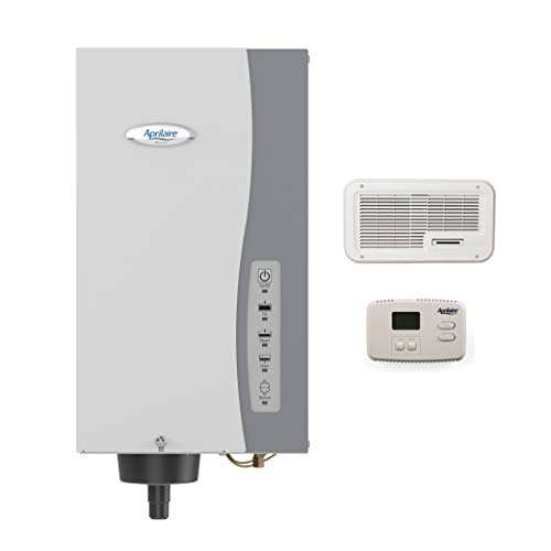 Aprilaire - 865Z 865 Whole Home Steam Humidifier, Manual Steam Humidifier with Wall Mount Fan, Whole House Humidifier for Homes without HVAC Duct System up to 6,200 Sq. Ft.