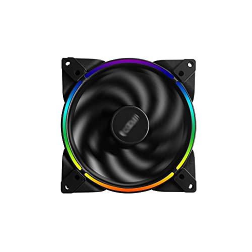 Ventilador de computadora de 120 mm estándar ventilador de refrigeración silenciosa ventilador LED para carcasa de PC y CPU Cooler Ooling Case Ventilador para PC PC piezas (Cantidad: 1)