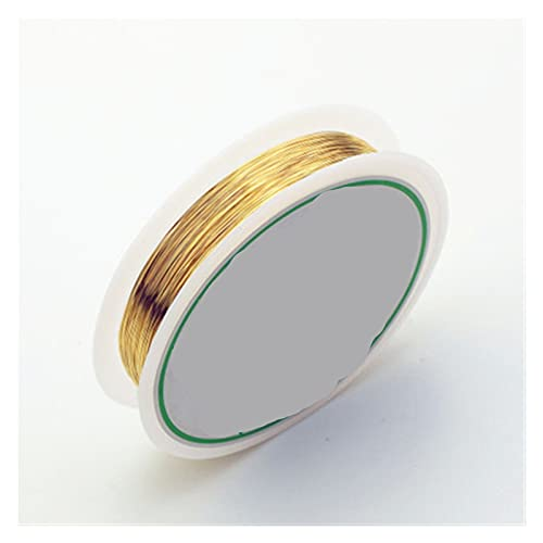 DIY Handcrafts 0.2mm Copper Wire For Jewelry Making DIY Craft Bracelet Necklace Colorfast Beading Wire Jewelry Cord String for Craft, Art Creation, (Color : Gold, Size : 0.2mm 20meters)