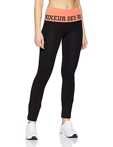 BOXEUR DES RUES Serie Fight Activewear, Pantaloni Donna, Nero/Corallo, M