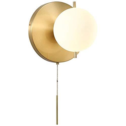Soporte de cobre de la luz de la pared industrial con el globo blanco Shade Edison Sconence Metal retro interruptor de pull de la pared NOSTALGIC Lámparas de pared de la barra Café Corredor Dormitorio