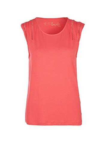 s.Oliver Damen 120.10.005.12.102.2038408 T-Shirt, Coral, 38