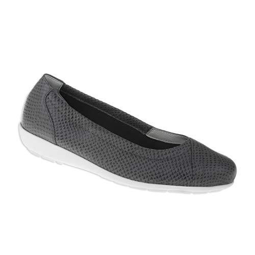 Natural Feet Damen Ballerina Collien | Echtes Hirschleder | Weite H | Hallux geeignet 40 grau