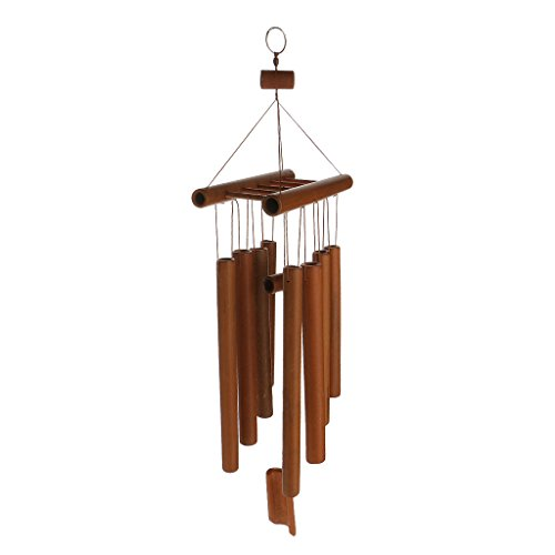 Homyl Bambou Ornement Suspendu Son Argréable Carillon à Vent Cour Jardin Décoration