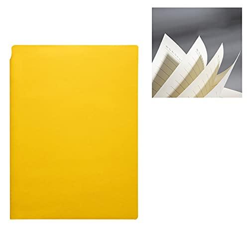 Wenjudai 2 unids simple multicolor cuaderno set regalo diario creativo bloc de notas tarea mano mayor imitación cuero material 5.7*8.2 pulgadas amarillo