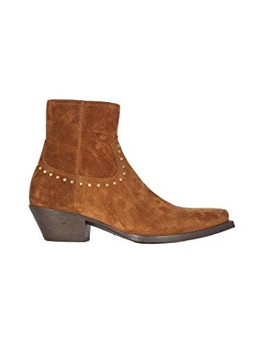 Saint Laurent Luxury Fashion Herren 6031881NZTT2330 Braun Wildleder Stiefeletten | Frühling Sommer 20