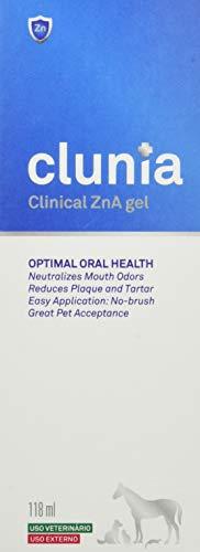 Vetnova Clunia Clinical Zn-A Gelde Higiene Dental para Perros y Gatos - 118 ml, Azul
