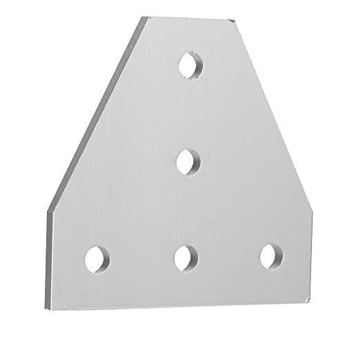 Weikeya Dünne 3D-Drucker-Halterung-Platte, 6mm Easy-Installation 6105 - T5-Aluminium-Möbel-Beinbein-Befestigung aus Metall für Misumi-Serie (Silber)