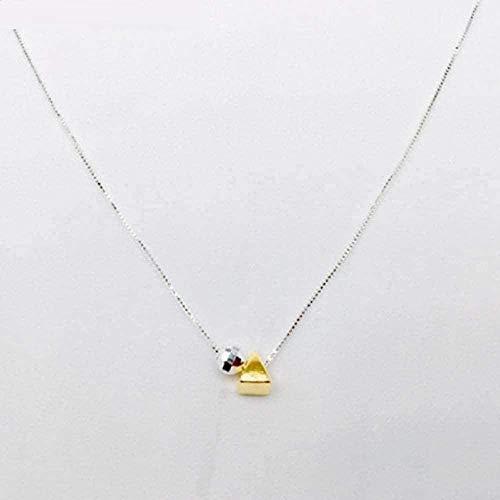 Yiffshunl Collar Collar de triángulo esférico Collar Collar geométrico DIY Art Clavícula Collar Simple
