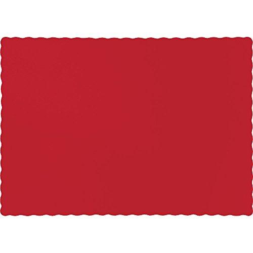 creative converting 600unidades toque de color manteles individuales de papel, clásico rojo