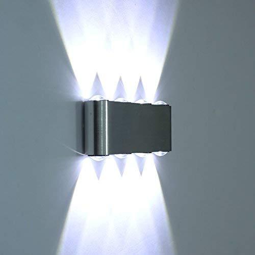 ETiME Modern LED Wandleuchte 8W Wandlampe kaltweiss Treppenlampe Flurlampe Licht Innenlampe Effektlampe Deckenleuchte (8W Kaltweiss)