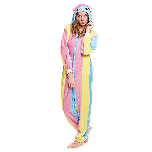 Pijamas Enteros de Animales Adultos Unisex (Tallas de Adultos S a L) Disfraz Pijama Mujer Llama colorines Mono Enterizo Adulto Carnaval Fiestas【Talla S】