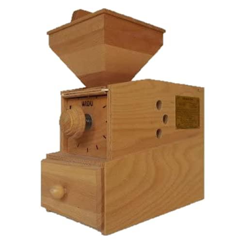 WIDU Getreidemühle elektrobetrieben, Widukind Model I aus Buchensperrholz, kompakt