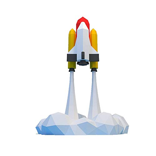 Corlidea Papercraft DIY 3D cohete Abheben papel Animales 60 x 44.5 cm Wanddeko Papercraft Building Kit Origami Paper Ornamentent DIY juguetes para niños pequeños