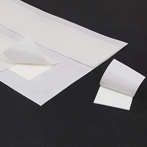 Klebestrips quadratisch   Doppelseitig stark klebend   Größe & Menge wählbar   1 mm Dicke