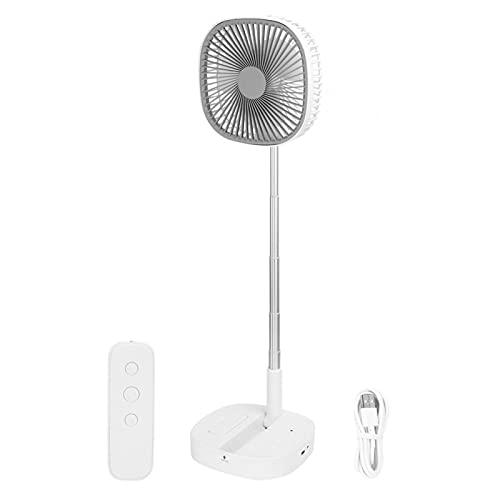 ventilador portátil de la fan telescópica de gran capacidad de la operación 7200mAh portátil, dormitorio de la fan del USB para el hogar(white)
