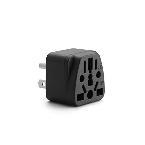 Unidapt US Travel Plug Adapter, EU,AU,UK,NZ,CN,in to USA (Type B), Grounded 3 Prong USA Wall Plug, EU to US Travel Adaptor and Converter, Power Outlet Charger (1)
