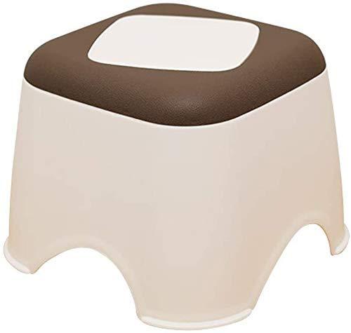 GCP Taburete tapizado pequeño de plástico, Ofrece Asiento Adicional portátil, diseño Inferior Antideslizante, Taburete para pies/Taburete para Cambiar los Zapatos Taburete para Almacenamiento
