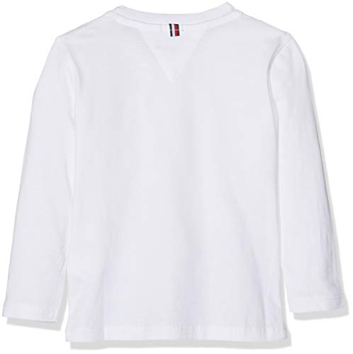 Tommy Hilfiger Boy's Basic Cn Knit L/s T-Shirt, White (Bright White 123), 104