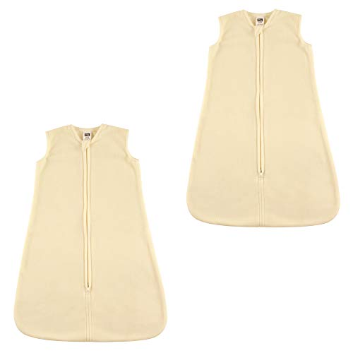 Hudson Baby Unisex Baby Plush Sleeping Bag, Sack, Blanket Bundle, Cream Microfleece 2-Pack, 18-24 Months