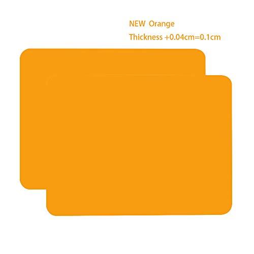 Silikon-Tischsets für Kinder, antihaftbeschichtet, hitzebeständig, 40 x 30 cm, für Küchen- und Esstisch Orange (T:0,1 cm)