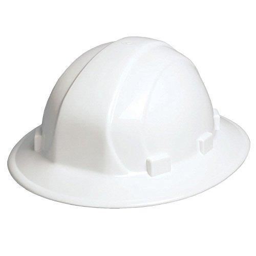 ERB 19911 Omega II Full Brim Hard Hat with Mega Ratchet, White