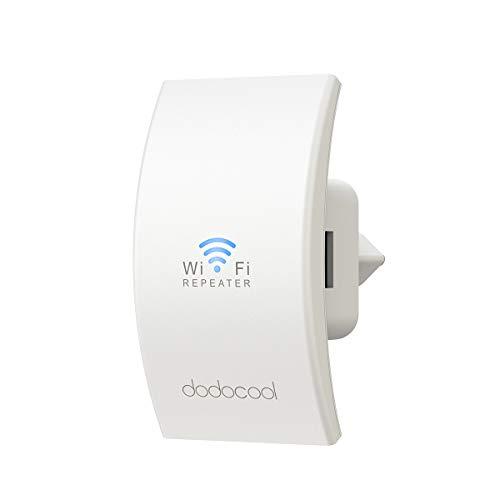 dodocool Ripetitore WiFi Wireless, WiFi Extender N300 Range Extender WiFi, 300Mbps 2.4GHz, 2 Antenne, Access Point AP, Compatibile con Tutti i Modem Router WiFi