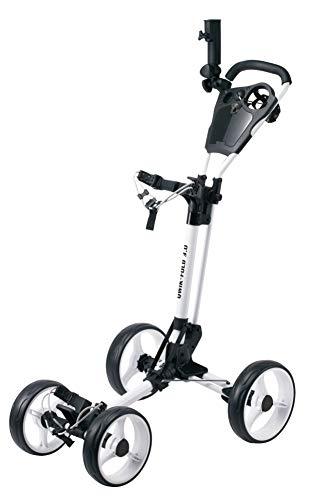 Qwik-Fold 4 Wheel Folding Push Pull Golf CART - Foot Brake - ONE Second to...