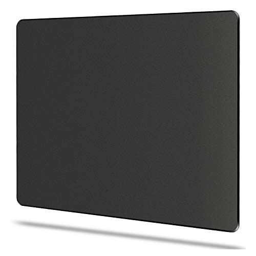 "Bitpro LGM Hard Mouse Pad,Unique 3 Layers Mouse Pad with Plastic Surface,Compatible with High DPI Mice Quick Gestures Enhance Precision for Gaming and Office-Large (11.6""x9.5"") Black (Black - 1 pc)"
