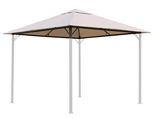 QUICK STAR Replacement Roof for Garden Gazebo 3x3m (9,7ft - 9,7ft) Beige