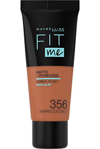 Maybelline New York Fit me! Matte & Poreless Make-up Nr. 356 Warm Coconut, 30 ml