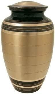 Cremation Urn: Black and Brass 6