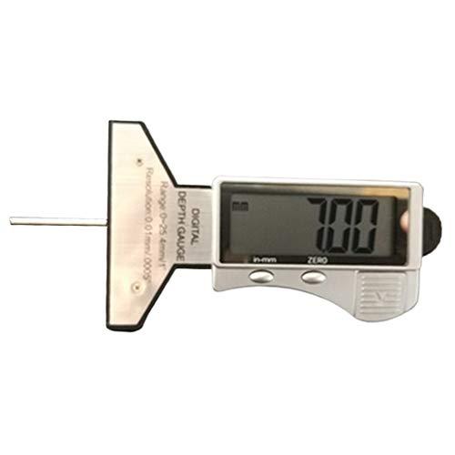 Milageto Medidor de Profundidad de Banda de Rodadura de Pantalla Digital LCD Electrónico 0-25,4 MM Herramienta de Medición
