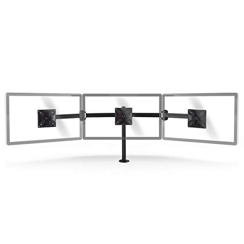 NEDIS Ergonomische Monitorhalterung - Dreifachmonitorarm - Bis zu DREI Bildschirme - Vollbeweglich - Heimnutzung - Büronutzung - Bis zu 21 kg - Schwarz Schwarz