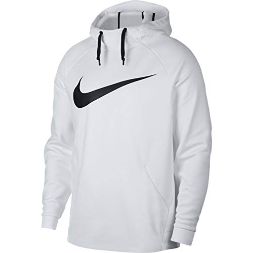 Nike Mens Therma Swoosh Essential Pull Over Hoodie White/Black 931991-100 Size 2X-Large