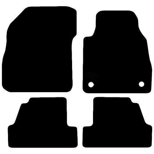 Carsio Automatten für Mokka ab Baujahr 2012, maßgeschneidert, Schwarz, 4-teiliges Set mit 2 Clips