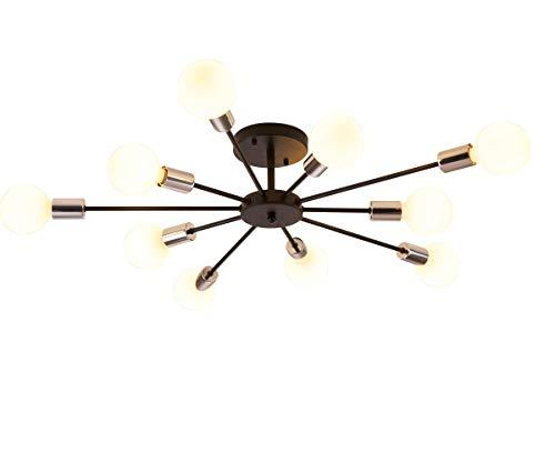 Dellemade Sputnik - Lámpara de araña, 10 luces, vintage, para comedor, salón, cocina, oficina, cafetería, restaurante