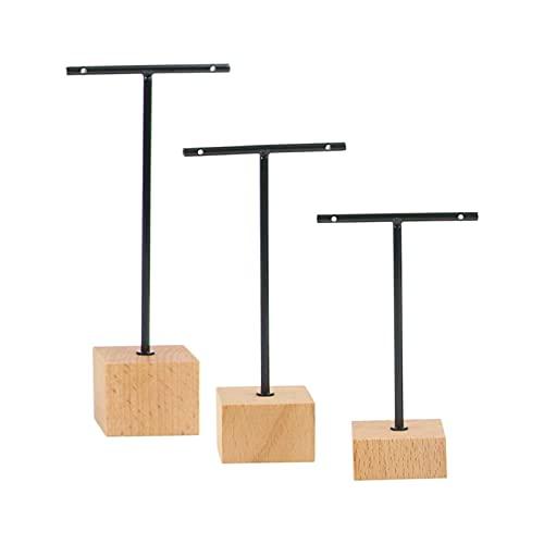 harayaa I Titolari di Visualizzazione dei Monili Dell'orecchino del Metallo T Bar Stand di Vendita al Dettaglio On-Line Negozi di Fotografia Puntelli di - Nero