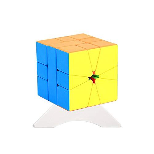 OJIN MoYu MoFang JiaoShi MFJS Meilong Square-1 Special Cube Cubing Classroom MFSQ-1 Rompecabezas Twsit sin Problemas Rompecabezas Rompecabezas con un trípode de Cubo (Sin Etiqueta)
