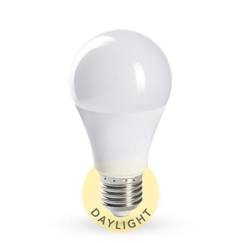 CROWN LED Tageslicht Glühbirne Vollspektrum - Simuliertes Tageslicht, Dimmbar, 10.000 LUX bei 0,1 Meter Abstand, E27 Fassung, 11W, 5.000 Kelvin, 230V, DL01