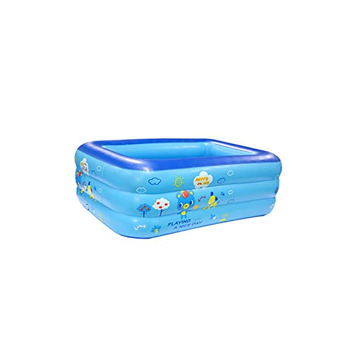 FCH Babypool Play Rectangular Pool Kinder Blauer tragbarer aufblasbarer Multifunktionaler Unterhaltung Pool 115 * 80 * 38 cm 125 * 90 * 45 cm 150 * 100 * 55 cm 180 * 130 * 65 cm