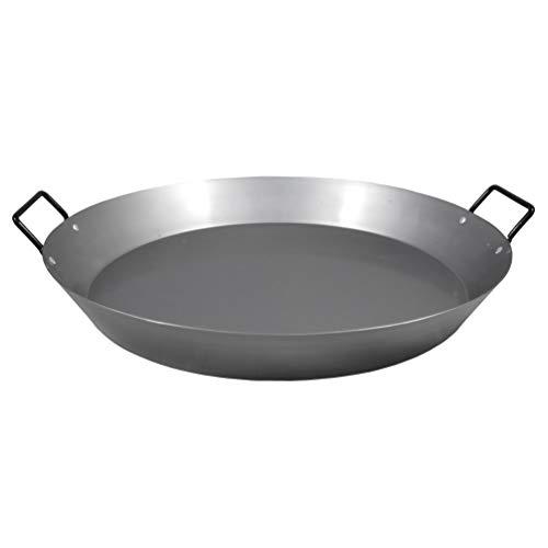 MUURIKKA Paella Pfanne aus Carbonstahl 45cm für Grill, Gas, offenes Feuer und alle Outdoor-Kochgelegenheiten