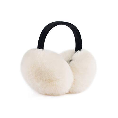 ZJ Warm halten Earmuffs Warm Earmuffs Earmuffs Mann-Winter Earmuffs Frauen im Freien Earmuffs Warm warm (Color : White)