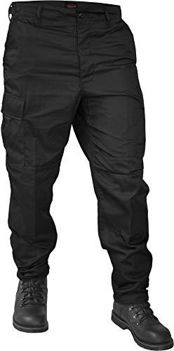 normani Lange Jagdhose Jägerhose aus robustem Baumwollmischgewebe Farbe Schwarz Größe XL