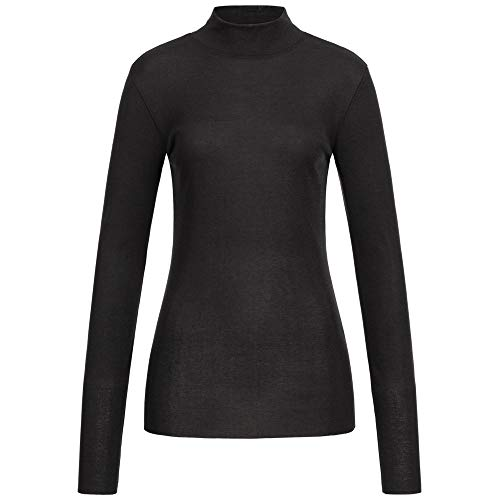 Drykorn Pullover KLEA mit Stehkragen L schwarz
