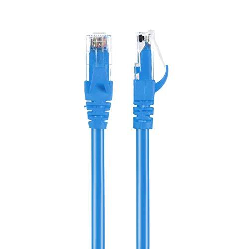 Cable Ethernet DyniLao Cat6, Cable de conexión Ethernet RJ45 Cat6 de 0,3 metros / 1 pie - Azul claro
