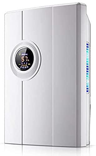 Deumidificatore, Compact Deshumidificador 2.2L deumidificatore d'aria Mini essiccatore d'aria Temperatura display di umidità Semiconductor essiccante essiccante macchina elettrica