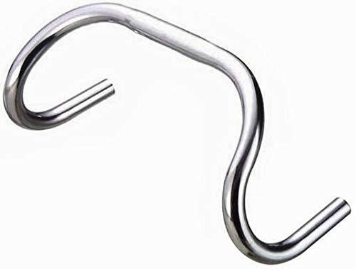 P4B | Lenker für Ihr Fahrrd - Bahn-/Fixie | Runde Form | Für Klemmung 25,4 mm | Durchmesser Lenkerende = 23,8 mm | Fahrradlenker | In Silber/Eloxiert